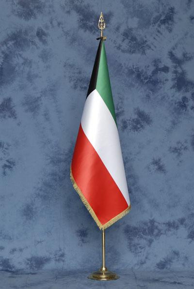 Bandiere deluxe kuwait mib bandiere nautica e gagliardetti produzione e vendita bandiere - Porta bandiere da tavolo ...
