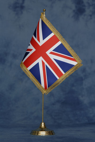 Bandiere deluxe da tavolo gran bretagna mib bandiere - Bandiere da tavolo e basi ...